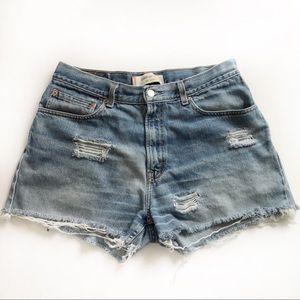 Levi's High Waisted Denim Jean Shorts Wedgie 10 12